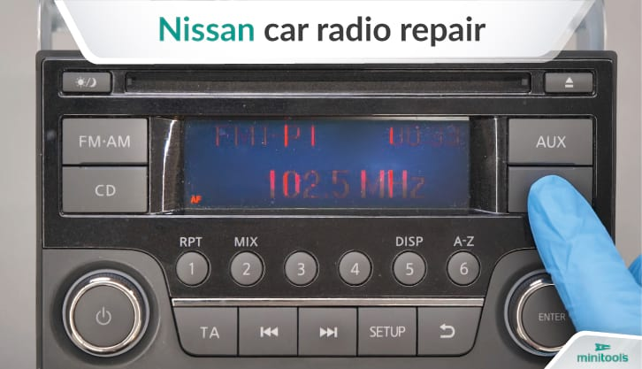 Guide to remove and repair Nissan radio
