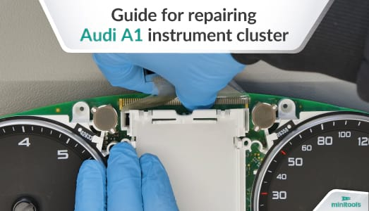 Guide for repairing Audi A1 dashboard LCD display