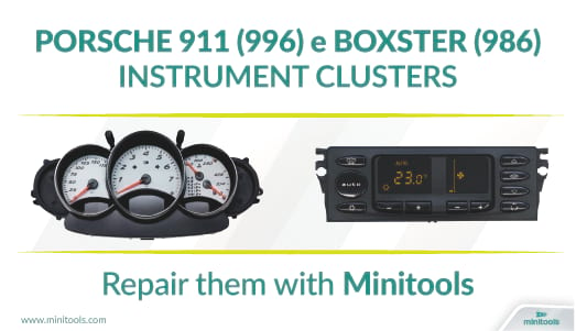 Porsche 911 996 and Porsche Boxster 986 climate control panel and instrument cluster repair