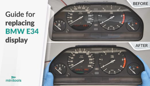Guide for repairing BMW 5 Series E34 instrument clusters (MotoMeter models)