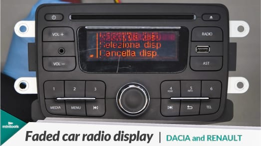 Guide for repairing the Daewoo car stereo of Dacia, Lada, Nissan and Renault