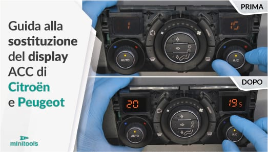 Come sostituire i display del modulo ac di Citroën e Peugeot