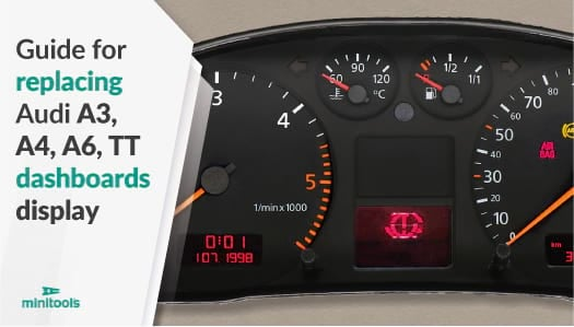 Guide for replacing Audi A3, A4, A6 and TT instrument clusters half fiss display