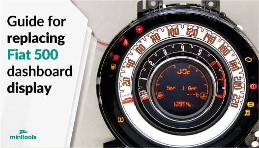 Guide for replacing Fiat 500 speedometer EVIC display