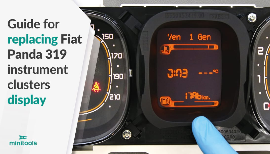 Guide for replacing Fiat Panda 319 instrument clusters display
