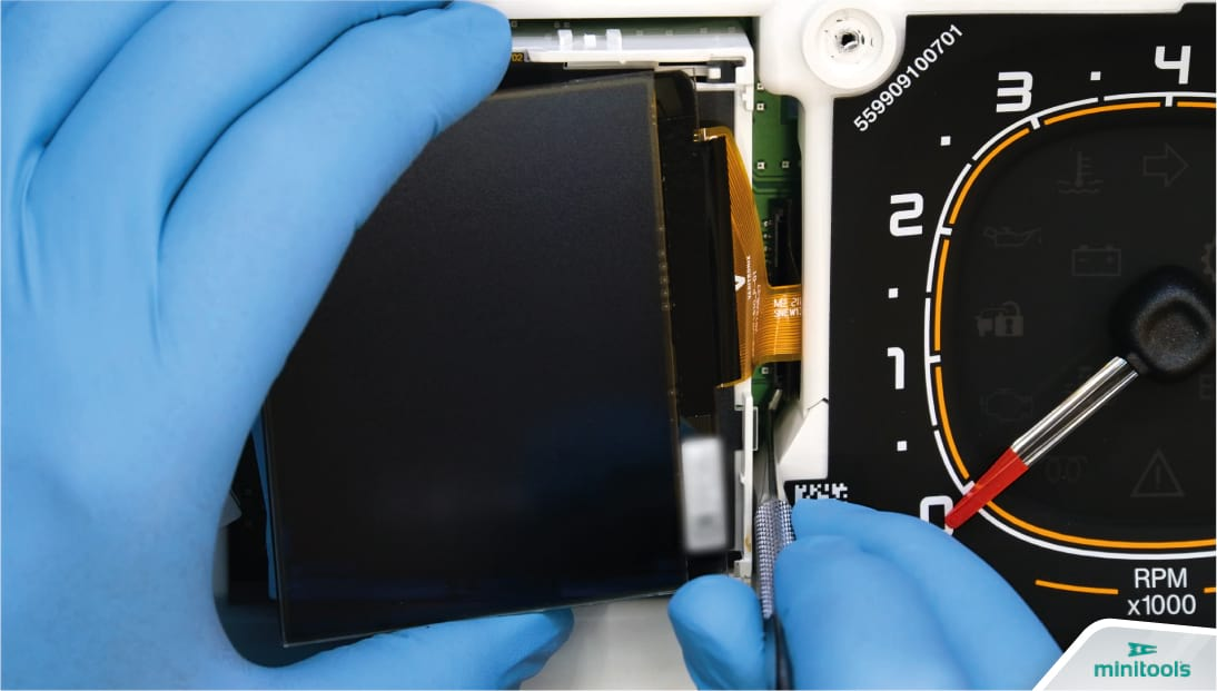 How to connect the FPC of the new LCD display of Fiat Panda II 319 instrument panel