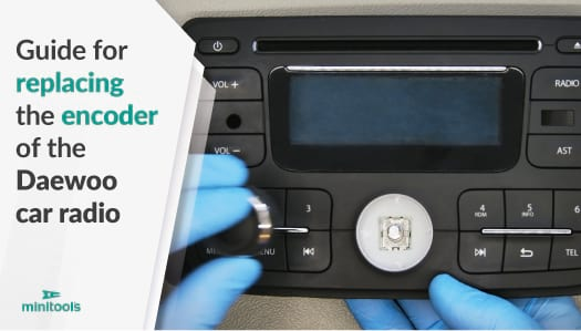 Guide for repairing the car radio knob replacing the faulty encoder